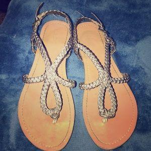 Silver Merona sandals